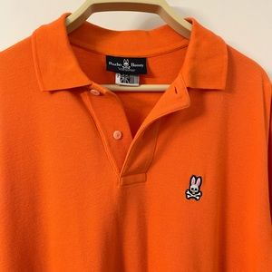 Polo Shirt Psycho Bunny Orange Solid Small Logo